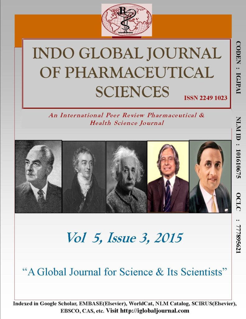 IGJPS, 2015, Vol 5, Issue 3 Cover